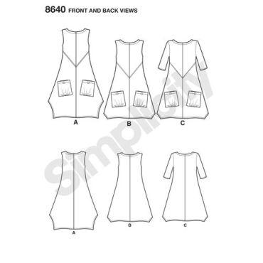 simplicity-linen-dress-pattern-8640-front-back-views
