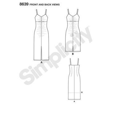 simplicity-mimi-g-dress-shirred-stretch-knit-pattern-8639-front-back-views
