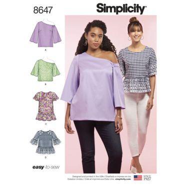 simplicity-one-shoulder-top-pattern-8647-envelope-front