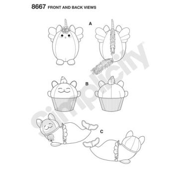 simplicity-stuffed-kitties-pattern-8667-front-back-views