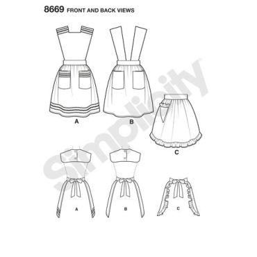 simplicity-vintage-apron-1940s-pattern-8669-front-back-views