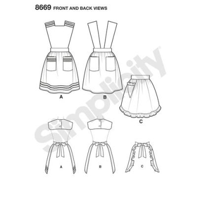 simplicity-vintage-apron-1940s-pattern-8669-front-back-views