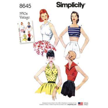 simplicity-vintage-top-halter-pattern-8645-envelope-front