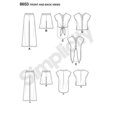 simplicity-wide-leg-pant-pattern-8653-front-back-views