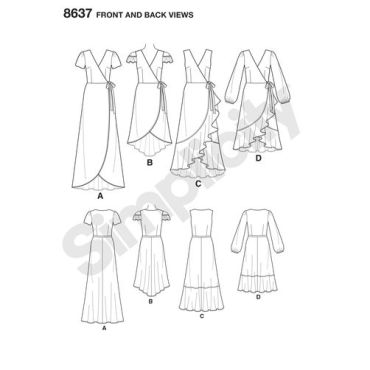 simplicity-wrap-dress-pattern-8637-front-back-views