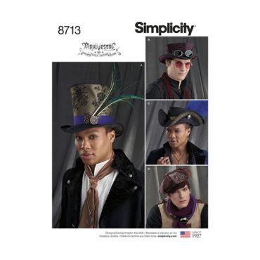 simplicity-arkivestry-mens-steampunk-top-hats-pattern-8713-envelope-front