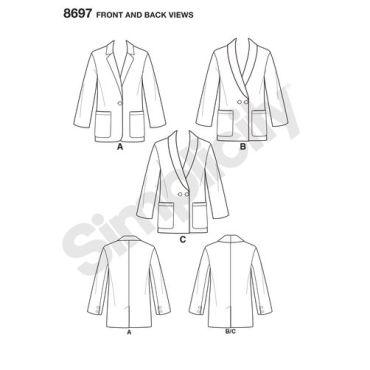 simplicity-boyfriend-blazer-pattern-8697-front-back-views