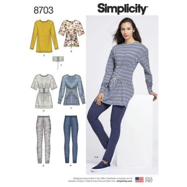simplicity-corset-waist-sweatshirt-leggings-pattern-8703-envelope-front