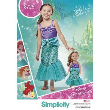 Simplicity-disney-ariel-costume-pattern-8725-envelope-front