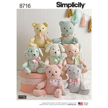 simplicity-elaine-heigl-stuffies-pattern-8716-envelope-front