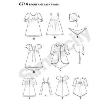 simplicity-keepers-dolly-duds-dolls-pattern-8714-front-back-views