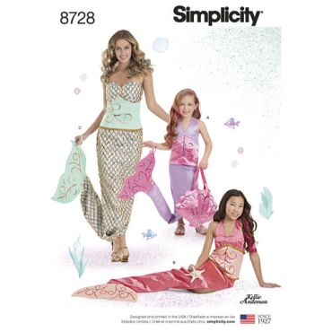 simplicity-mermaid-costumes-pattern-8728-envelope-front