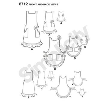 simplicity-mother-daughter-aprons-pattern-8712-front-back-views