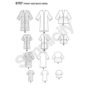 simplicity-mother-daughter-kimonos-pattern-8707-front-back-views