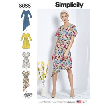 simplicity-ruched-waist-dress-pattern-8688-envelope-front