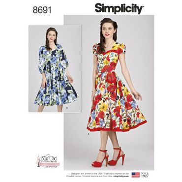 simplicity-sew-chic-dress-pattern-8691-envelope-front