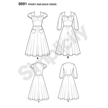 simplicity-sew-chic-dress-pattern-8691-front-back-views