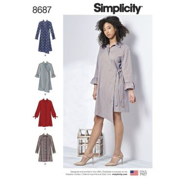 simplicity-shirt-dress-pattern-8687-envelope-front