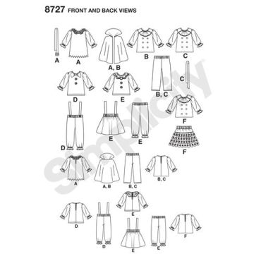 simplicity-toddler-halloween-costume-pattern-8727-front-back-views