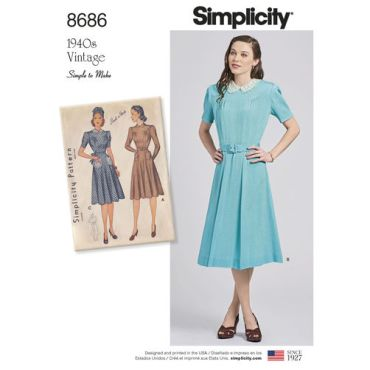 simplicity-vintage-1940s-dress-pattern-8686-envelope-front