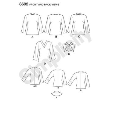 simplicity-vintage-dolman-sleeve-top-blouse-dickey-pattern-8692-front-back-views