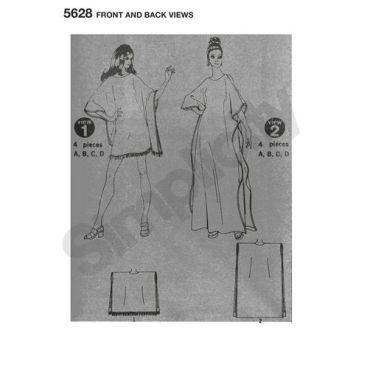 simplicity-vintage-jiffy-caftan-pattern-5628-front-back-views
