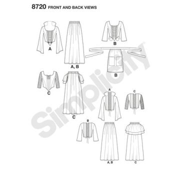 simplicity-witch-costumes-pattern-8720-front-back-views