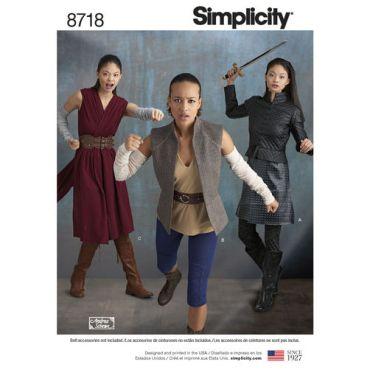 simplicity-women-warrior-costumes-pattern-8718-envelope-front