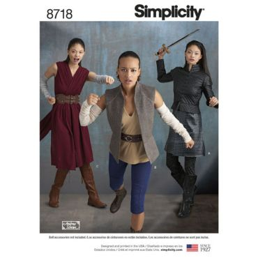 simplicity-women-warrior-costumes-pattern-8718-envelope-front