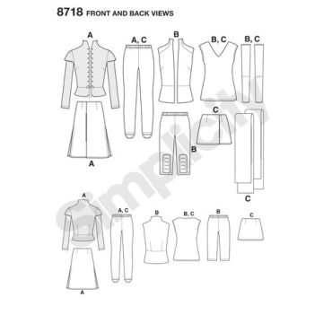 simplicity-women-warrior-costumes-pattern-8718-front-back-views