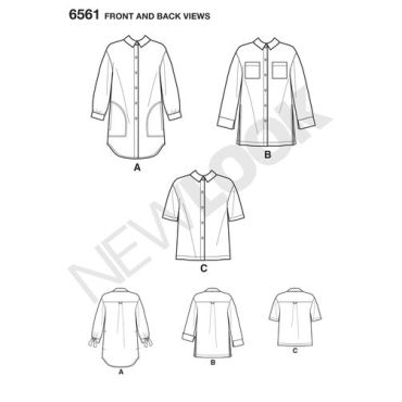 new-look-button-front-shirt-pattern-6561-front-back-views