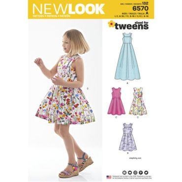 new-look-girls-fit-flare-dress-pattern-6570-envelope-front