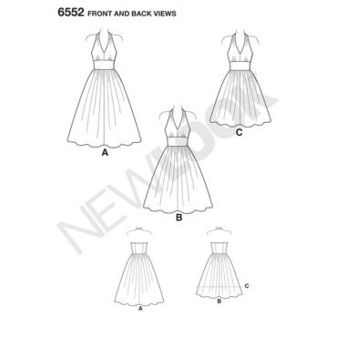 new-look-halter-dress-pattern-6552-front-back-views