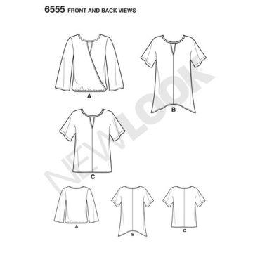 new-look-handkerchief-hem-tshirt-pattern-6555-front-back-views