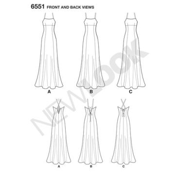 new-look-maxi-dress-pattern-6551-front-back-views