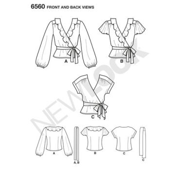 new-look-ruffle-top-pattern-6560-front-back-views