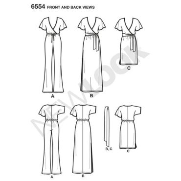 new-look-wrap-jumpsuit-dress-pattern-6554-front-back-views