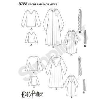simplicity-harry-potter-costumes-8723-pattern-front-back-views