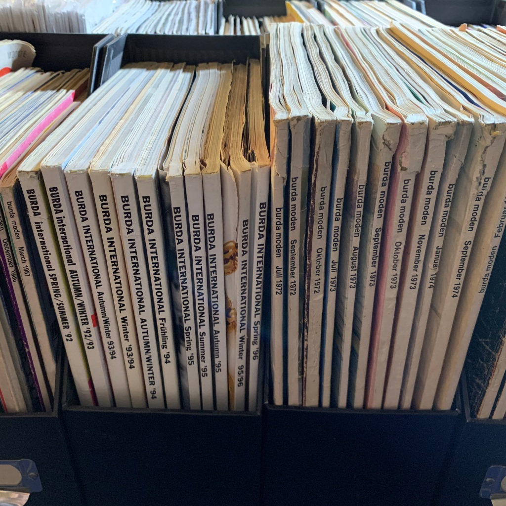 Vintage Burda Magazines from the 1970s and 1990s.